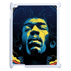 Gabz Jimi Hendrix Voodoo Child Poster Release From Dark Hall Mansion Apple Ipad 2 Case (white) by Onesevenart