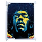 Gabz Jimi Hendrix Voodoo Child Poster Release From Dark Hall Mansion Apple iPad 2 Case (White)