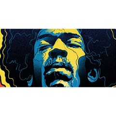 Gabz Jimi Hendrix Voodoo Child Poster Release From Dark Hall Mansion You Are Invited 3d Greeting Card (8x4) by Onesevenart