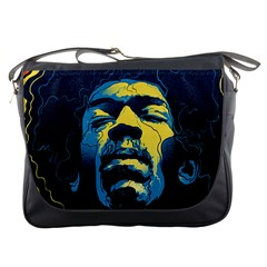 Gabz Jimi Hendrix Voodoo Child Poster Release From Dark Hall Mansion Messenger Bags by Onesevenart