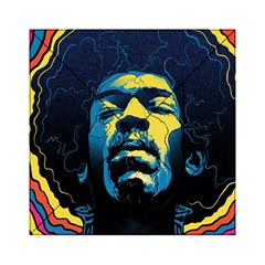 Gabz Jimi Hendrix Voodoo Child Poster Release From Dark Hall Mansion Acrylic Tangram Puzzle (6  X 6 ) by Onesevenart