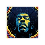 Gabz Jimi Hendrix Voodoo Child Poster Release From Dark Hall Mansion Acrylic Tangram Puzzle (4  x 4 )