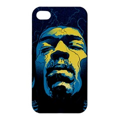 Gabz Jimi Hendrix Voodoo Child Poster Release From Dark Hall Mansion Apple Iphone 4/4s Premium Hardshell Case by Onesevenart