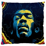 Gabz Jimi Hendrix Voodoo Child Poster Release From Dark Hall Mansion Large Cushion Case (Two Sides)