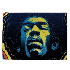 Gabz Jimi Hendrix Voodoo Child Poster Release From Dark Hall Mansion Cosmetic Bag (xxl)  by Onesevenart