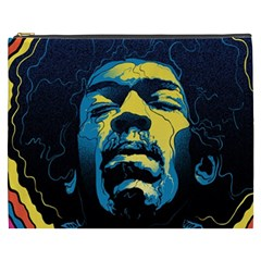 Gabz Jimi Hendrix Voodoo Child Poster Release From Dark Hall Mansion Cosmetic Bag (xxxl)  by Onesevenart