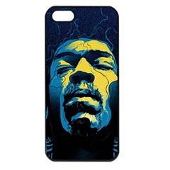 Gabz Jimi Hendrix Voodoo Child Poster Release From Dark Hall Mansion Apple Iphone 5 Seamless Case (black) by Onesevenart