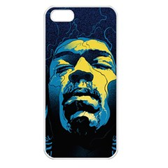 Gabz Jimi Hendrix Voodoo Child Poster Release From Dark Hall Mansion Apple Iphone 5 Seamless Case (white) by Onesevenart