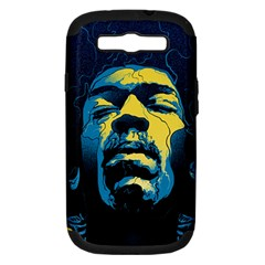 Gabz Jimi Hendrix Voodoo Child Poster Release From Dark Hall Mansion Samsung Galaxy S Iii Hardshell Case (pc+silicone) by Onesevenart