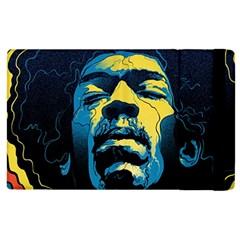 Gabz Jimi Hendrix Voodoo Child Poster Release From Dark Hall Mansion Apple Ipad 2 Flip Case by Onesevenart