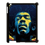 Gabz Jimi Hendrix Voodoo Child Poster Release From Dark Hall Mansion Apple iPad 3/4 Case (Black)