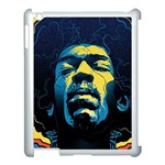 Gabz Jimi Hendrix Voodoo Child Poster Release From Dark Hall Mansion Apple iPad 3/4 Case (White)