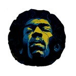 Gabz Jimi Hendrix Voodoo Child Poster Release From Dark Hall Mansion Standard 15  Premium Round Cushions