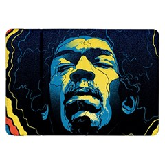 Gabz Jimi Hendrix Voodoo Child Poster Release From Dark Hall Mansion Samsung Galaxy Tab 8 9  P7300 Flip Case by Onesevenart