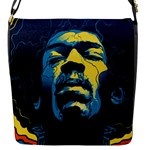 Gabz Jimi Hendrix Voodoo Child Poster Release From Dark Hall Mansion Flap Messenger Bag (S)