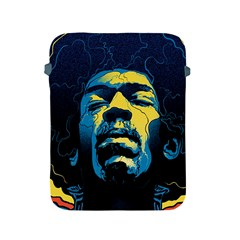 Gabz Jimi Hendrix Voodoo Child Poster Release From Dark Hall Mansion Apple Ipad 2/3/4 Protective Soft Cases by Onesevenart