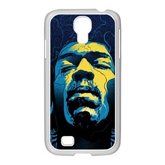 Gabz Jimi Hendrix Voodoo Child Poster Release From Dark Hall Mansion Samsung Galaxy S4 I9500/ I9505 Case (white) by Onesevenart
