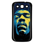 Gabz Jimi Hendrix Voodoo Child Poster Release From Dark Hall Mansion Samsung Galaxy S3 Back Case (Black)