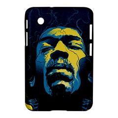 Gabz Jimi Hendrix Voodoo Child Poster Release From Dark Hall Mansion Samsung Galaxy Tab 2 (7 ) P3100 Hardshell Case  by Onesevenart