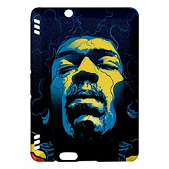 Gabz Jimi Hendrix Voodoo Child Poster Release From Dark Hall Mansion Kindle Fire Hdx Hardshell Case by Onesevenart