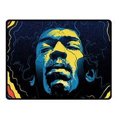 Gabz Jimi Hendrix Voodoo Child Poster Release From Dark Hall Mansion Double Sided Fleece Blanket (small)  by Onesevenart