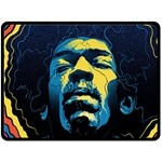 Gabz Jimi Hendrix Voodoo Child Poster Release From Dark Hall Mansion Double Sided Fleece Blanket (Large)