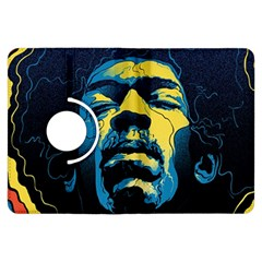 Gabz Jimi Hendrix Voodoo Child Poster Release From Dark Hall Mansion Kindle Fire Hdx Flip 360 Case by Onesevenart