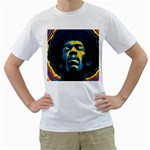Gabz Jimi Hendrix Voodoo Child Poster Release From Dark Hall Mansion Men s T-Shirt (White)