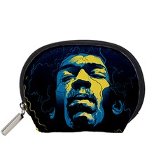Gabz Jimi Hendrix Voodoo Child Poster Release From Dark Hall Mansion Accessory Pouches (small)  by Onesevenart
