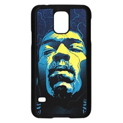 Gabz Jimi Hendrix Voodoo Child Poster Release From Dark Hall Mansion Samsung Galaxy S5 Case (black) by Onesevenart