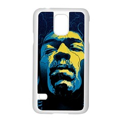 Gabz Jimi Hendrix Voodoo Child Poster Release From Dark Hall Mansion Samsung Galaxy S5 Case (white) by Onesevenart