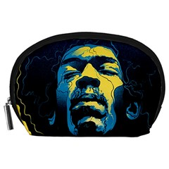 Gabz Jimi Hendrix Voodoo Child Poster Release From Dark Hall Mansion Accessory Pouches (large)  by Onesevenart