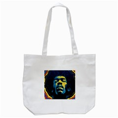 Gabz Jimi Hendrix Voodoo Child Poster Release From Dark Hall Mansion Tote Bag (white) by Onesevenart