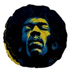 Gabz Jimi Hendrix Voodoo Child Poster Release From Dark Hall Mansion Large 18  Premium Flano Round Cushions
