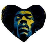 Gabz Jimi Hendrix Voodoo Child Poster Release From Dark Hall Mansion Large 19  Premium Flano Heart Shape Cushions