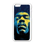 Gabz Jimi Hendrix Voodoo Child Poster Release From Dark Hall Mansion Apple iPhone 6/6S White Enamel Case