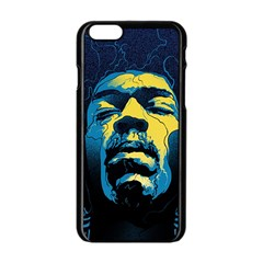 Gabz Jimi Hendrix Voodoo Child Poster Release From Dark Hall Mansion Apple Iphone 6/6s Black Enamel Case by Onesevenart