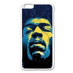 Gabz Jimi Hendrix Voodoo Child Poster Release From Dark Hall Mansion Apple Iphone 6 Plus/6s Plus Enamel White Case by Onesevenart