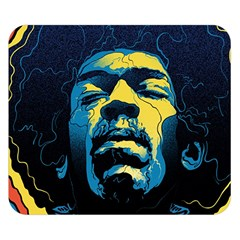 Gabz Jimi Hendrix Voodoo Child Poster Release From Dark Hall Mansion Double Sided Flano Blanket (small)  by Onesevenart