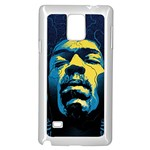 Gabz Jimi Hendrix Voodoo Child Poster Release From Dark Hall Mansion Samsung Galaxy Note 4 Case (White)