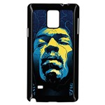Gabz Jimi Hendrix Voodoo Child Poster Release From Dark Hall Mansion Samsung Galaxy Note 4 Case (Black)