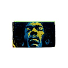 Gabz Jimi Hendrix Voodoo Child Poster Release From Dark Hall Mansion Cosmetic Bag (xs) by Onesevenart
