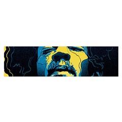 Gabz Jimi Hendrix Voodoo Child Poster Release From Dark Hall Mansion Satin Scarf (oblong) by Onesevenart