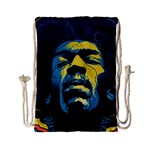 Gabz Jimi Hendrix Voodoo Child Poster Release From Dark Hall Mansion Drawstring Bag (Small)
