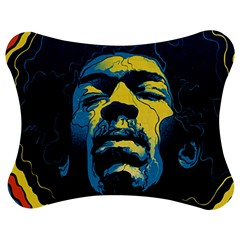 Gabz Jimi Hendrix Voodoo Child Poster Release From Dark Hall Mansion Jigsaw Puzzle Photo Stand (bow) by Onesevenart