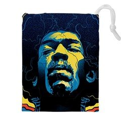 Gabz Jimi Hendrix Voodoo Child Poster Release From Dark Hall Mansion Drawstring Pouches (xxl) by Onesevenart