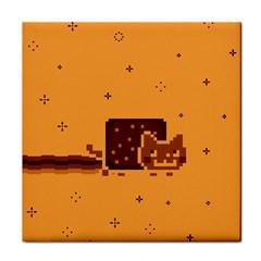 Nyan Cat Vintage Tile Coasters by Onesevenart