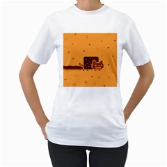 Nyan Cat Vintage Women s T Shirt (white) (two Sided) by Onesevenart