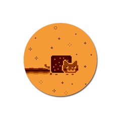 Nyan Cat Vintage Magnet 3  (round) by Onesevenart