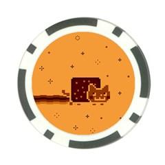 Nyan Cat Vintage Poker Chip Card Guards by Onesevenart